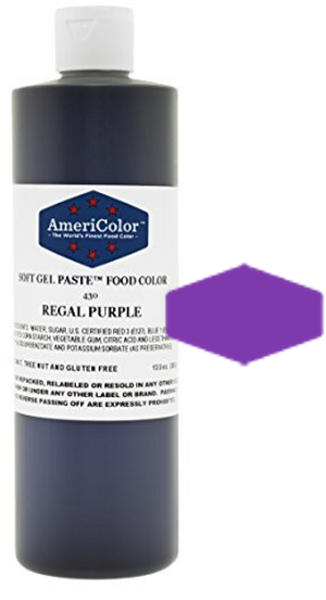 Americolor Soft Gel Paste Food Color - Regal Purple - 13.5oz