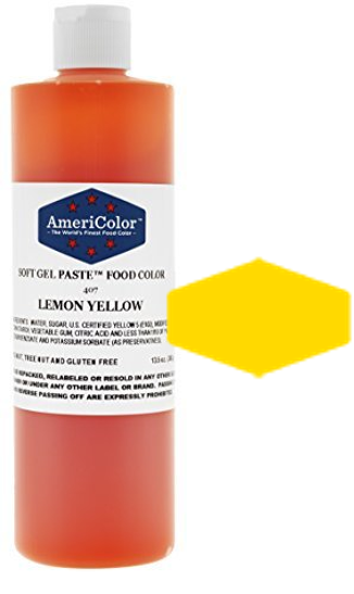 Americolor Soft Gel Paste Food Color - Lemon Yellow - 13.5oz