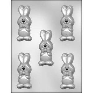 Bunny With Bow Chocolate Mold