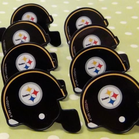 Steelers Helmet Rings- Black 12pc