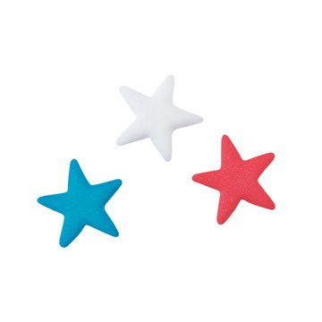 Sugar Stars - Red, White & Blue -12 Pieces