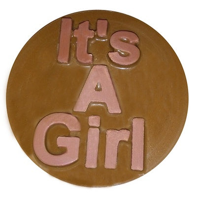 it's a girl round sandwich cookie chocolate mold
