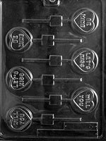 Will You Be Mine/Let's Kiss Lollipop Chocolate Mold