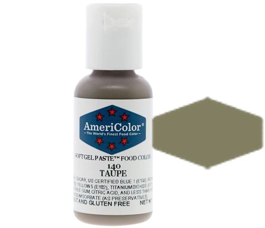 Americolor Soft Gel Paste Food Color -Taupe
