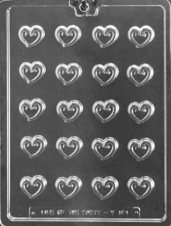 Heart Swirl Chocolate Mold