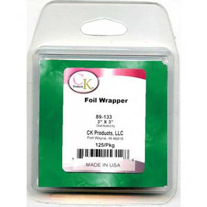 "Green Foil Wrapper - 3""x3"" - 125/Package"