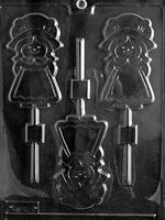 Girl Pilgrim Lolly Chocolate Mold
