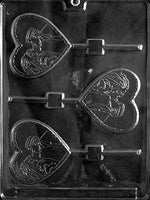 Bride And Groom Heart Lollipop Chocolate Mold
