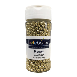 Celebakes Dragees - 5mm Gold