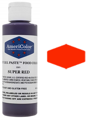 Americolor Soft Gel Paste Food Color - Super Red - 4.5oz