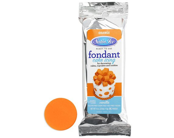 Satin Ice Orange Fondant - 4.4oz