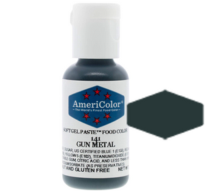 Americolor Soft Gel Paste Food Color - Gun Metal, .75oz
