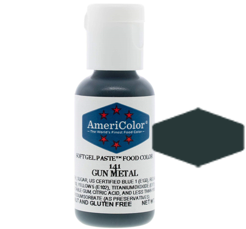 Americolor Soft Gel Paste Food Color - Gun Metal