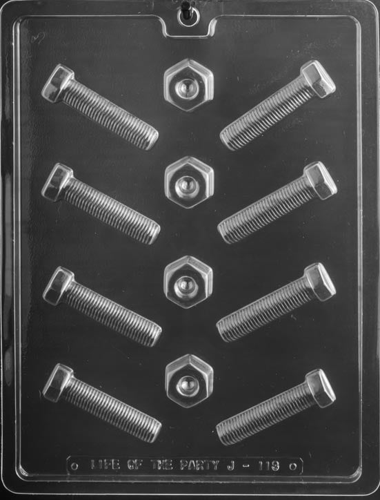 Nuts and Bolts Chocolate Mold