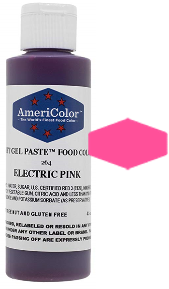 Americolor Soft Gel Paste Food Color - Electric Pink - 4.5oz