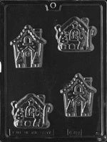 Gingerbread Houses Chocolate Mold