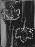 Large Maple Leaf Lolly chocolate mold
