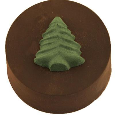 christmas tree round sandwich cookie chocolate mold