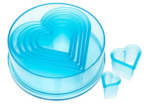 Ateco 7 Piece Heart Plain Cutter Set