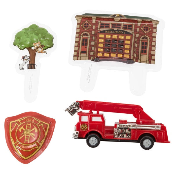 Fire Truck and Station Decoset