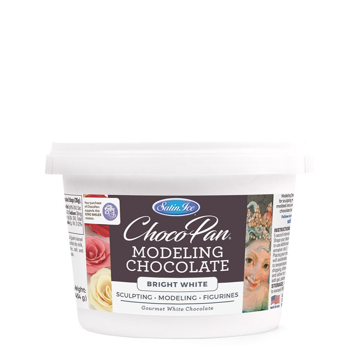 Choco-Pan Modeling Chocolate - Bright White - 1lb