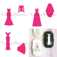 Wedding Dress Maker - 3 Piece Stencil