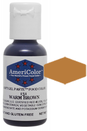 Americolor Soft Gel Paste Food Color - Warm Brown, .75oz