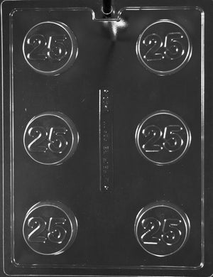 25th Anniversary/Birthday  Chocolate Cookie Mold