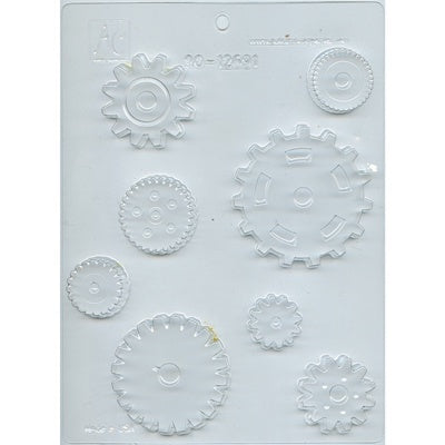 Assorted Gears Chocolate Mold