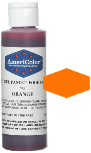 Americolor Soft Gel Paste Food Color - Orange - 4.5oz