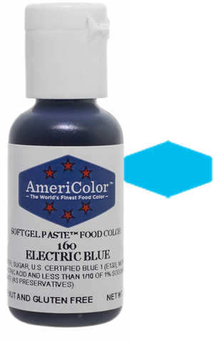 Americolor Soft Gel Paste Food Color - Electric Blue, .75oz