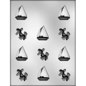 Sail Boat And Anchor Chocolate Mold