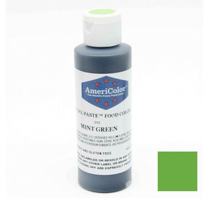 Americolor Soft Gel Paste Food Color - Mint Green - 4.5oz