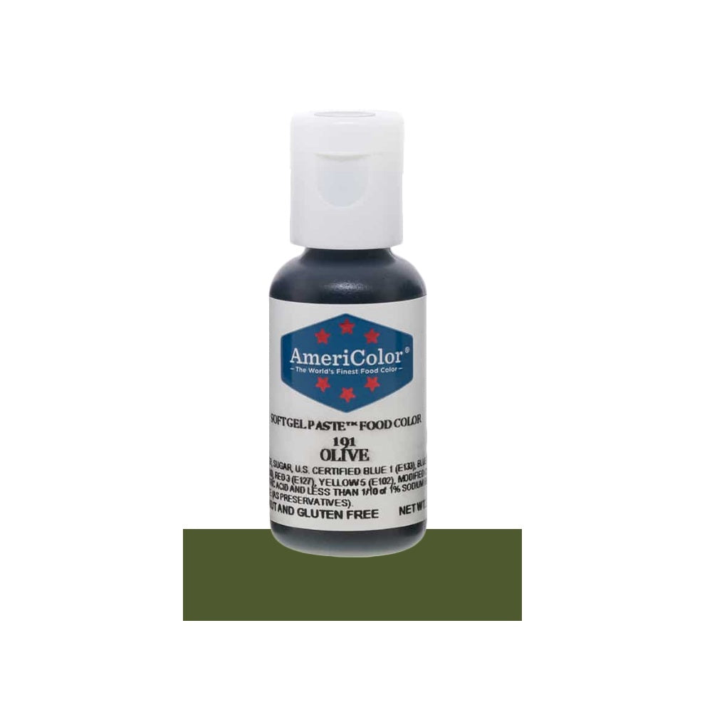 Americolor Soft Gel Paste Food Color - Olive, .75oz