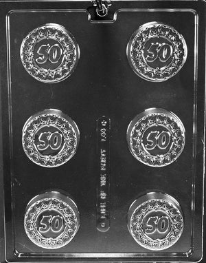 50th Anniversary/Birthday Chocolate Cookie Mold