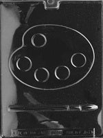 Palette and brush Chocolate Mold