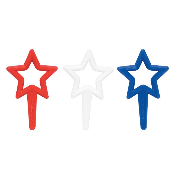 Puffy Star - Red - White & Blue - 12 Picks