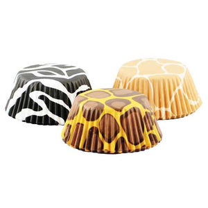 Animal Print Baking Cups - 75 count