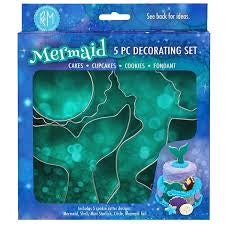 Mermaid Decorating Set 5 pc