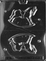 3D Rocking Horse Chocolate Mold