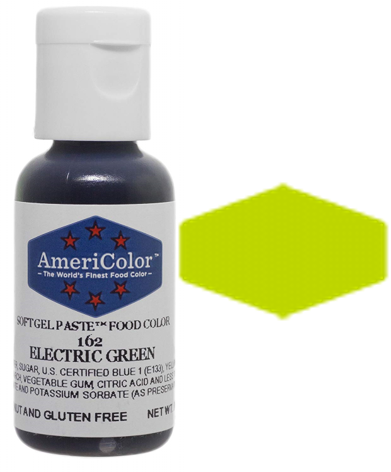 Americolor Soft Gel Paste Food Color - Electric Green, .75oz