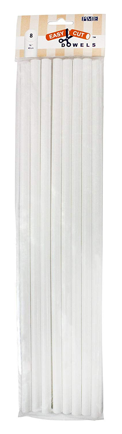 "Easy Cut Dowels - 16"" - White"