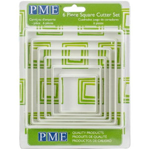 PME 6 Piece Square Cutter Set