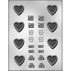 Heart And Messages Chocolate mold