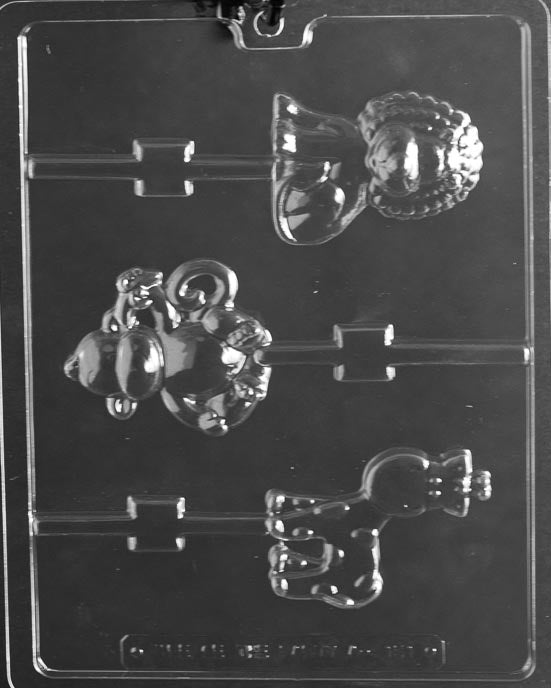 Monkey - Giraffe - And Lion Lollipop Chocolate Mold