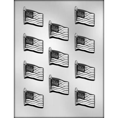 11Pc American Flag Chocolate Mold