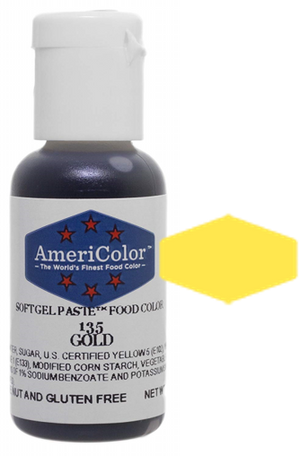 Americolor Soft Gel Paste Food Color - Gold, .75oz