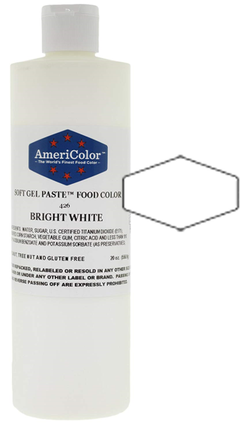 Americolor Soft Gel Paste Food Color - Bright White - 20oz