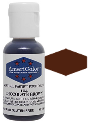 Americolor Soft Gel Paste Food Color - Chocolate Brown, .75oz