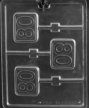 80th Anniversary/Birthday Lollipop Chocolate Mold
